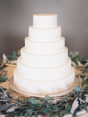 Tiered White Wedding Cake