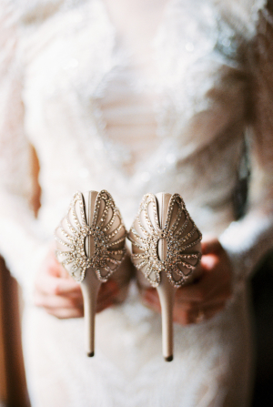 Vintage Inspired Wedding Shoes 57 Epic Bouquet in Shades of