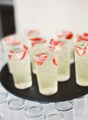 Wedding Cocktails with Strawberries