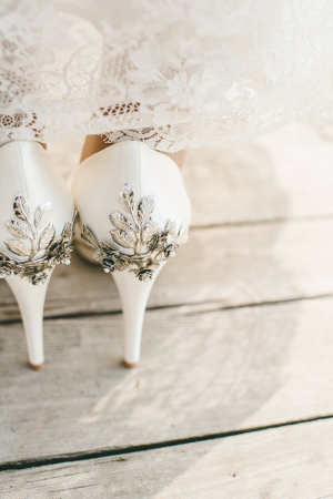 Wedding Shoes with Crystal Backs