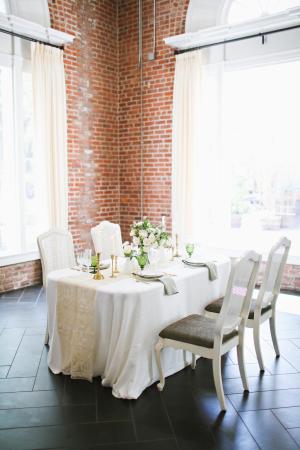 Wedding Table in Brick Loft