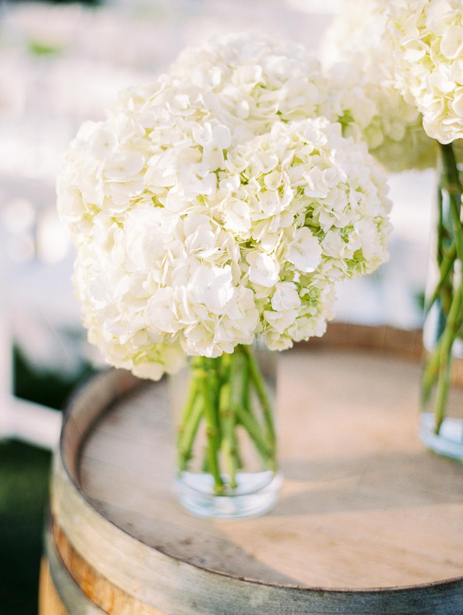 White Hydrangea Wedding Decor - Elizabeth Anne Designs: The Wedding Blog