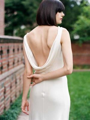 White Slip Wedding Dress