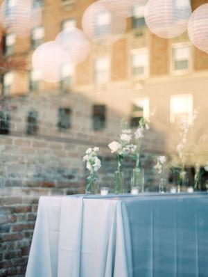 White and Gray Modern Wedding Reception