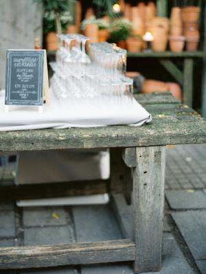 Wood Table Wedding Decor