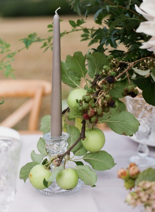Apple and Greenery Centerpiece