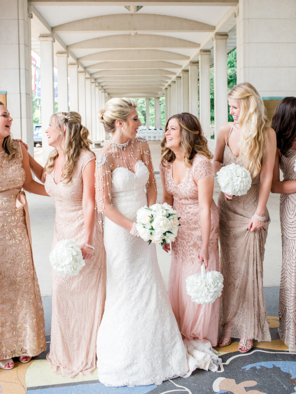 Blush Beaded Gowns