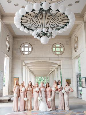 Blush Sparkle Bridesmaids Dresses