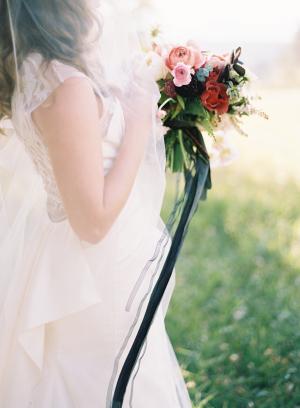 Bouquet with Dark Ribbon