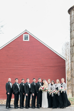 Bridal Party in Black