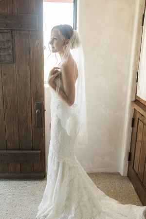 Bride in Anne Barge