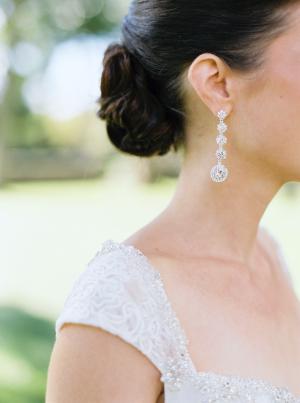 Bride in Drop Earrings