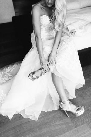 Bride in Ines di Santo Gown