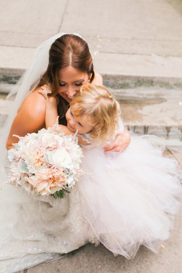 657dd450942 Bride with Flower Girl - Elizabeth Anne Designs  The Wedding Blog
