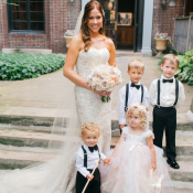 Bride with Ring Bearers and Flower Girl