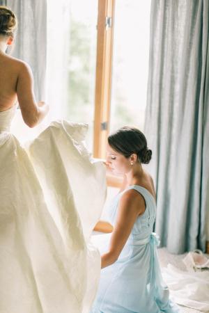 Bridesmaid in Sky Blue