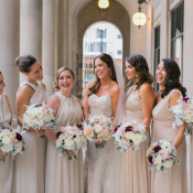Bridesmaids Dresses in Taupe