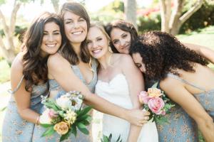 Bridesmaids in Floral Dresses