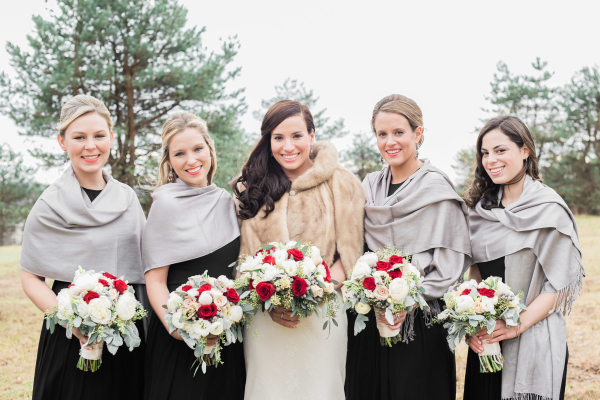 Bridesmaids in Pashminas