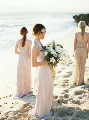 Bridesmaids on Beach in Australia