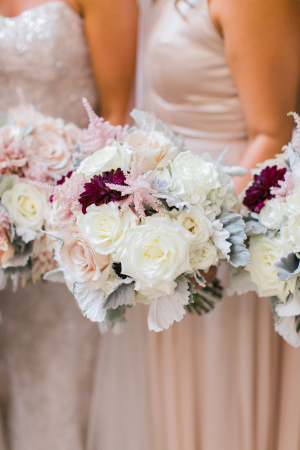 Bridesmaids with Dahlia Bouquets