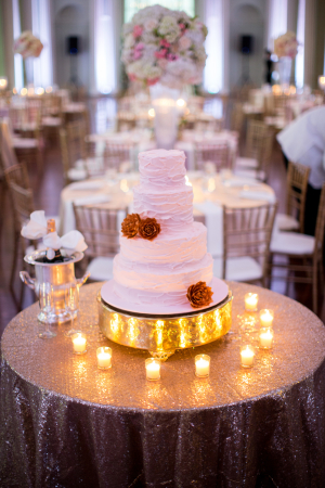 Cake Table with Sequin Linen