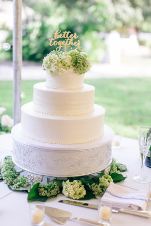 Cake Topper with Green Hydrangea