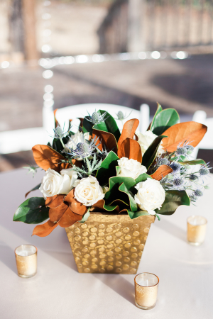 Centerpiece of Fall Leaves