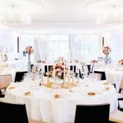 Chic Wedding Reception in Pink and Black