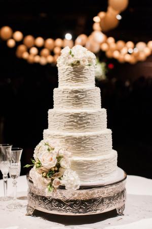 Classic White Tiered Wedding Cake