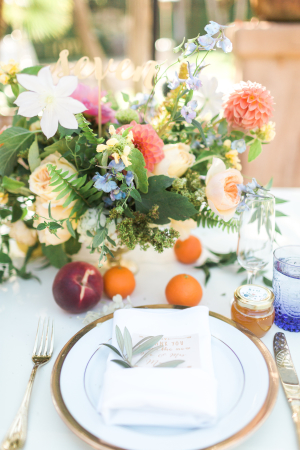 Colorful Wedding with Fruit