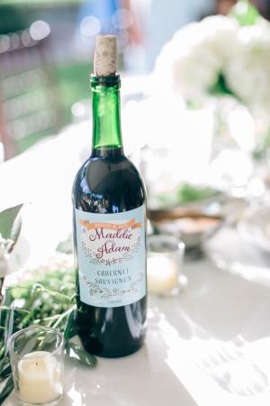 Custom Wine Bottle Labels for Wedding