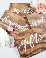 Custom Wood Calligraphy Wedding Sign