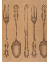 Cutlery Table Wrapping Paper