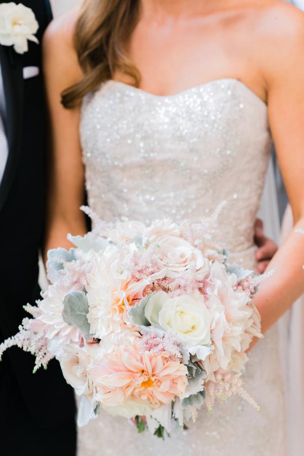 Dahlia Astilbe Rose Bouquet