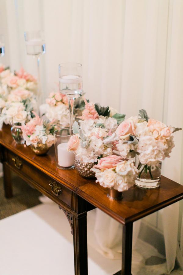 Elegant Cluster Wedding Ceremony Flowers