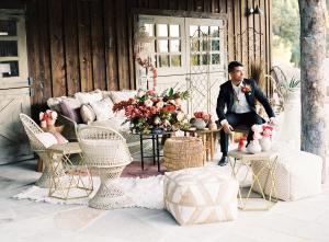 Elegant Mountain Wedding Lounge Area