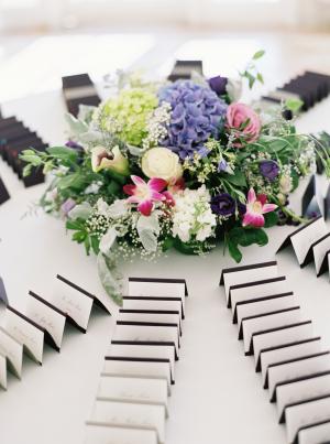 Escort Card Table Flowers