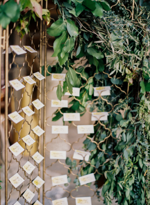 Escort Cards on Fence