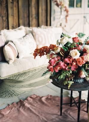 Fall Wedding Lounge Area