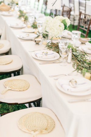 Fans at Wedding Chairs