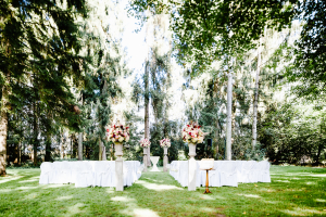 Garden Wedding Ceremony in Switzerland