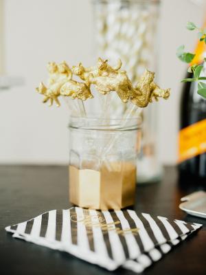 Gold Animal Drink Stir Sticks