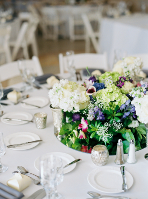 Green and Ivory Summer Centerpiece