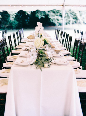 Green and White Outdoor Wedding