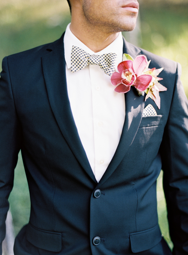 Groom with Fall Boutonniere