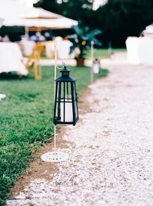 Lanterns along Walk to Wedding