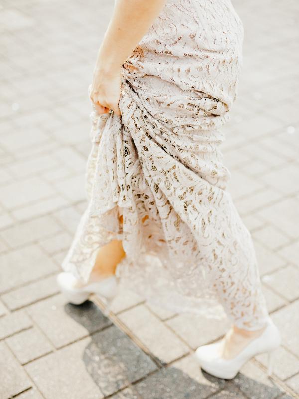 Monique Lhuillier Lace Gown