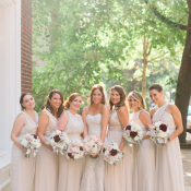 Nude Bridesmaids Dresses