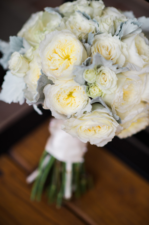 Peony Bouquet with Dusty Miller